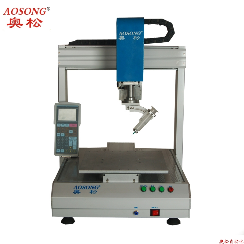 Application of four-axis dispensing machine online material factory